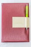 Caderno e lápis da tampa Fotos de Stock
