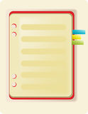 Caderno e marcador Imagens de Stock