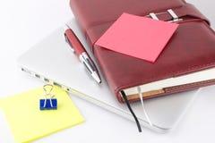 Caderno e outras coisas Imagem de Stock