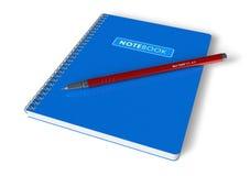 Caderno e pena Imagem de Stock Royalty Free