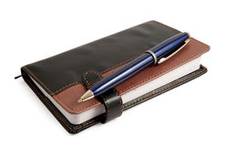 Caderno e pena Foto de Stock Royalty Free