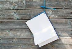 Caderno e pena Fotos de Stock