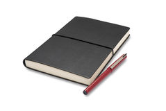 Caderno e pena Fotos de Stock Royalty Free