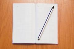 Caderno e pena Fotografia de Stock Royalty Free