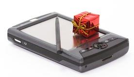 Caderno e presente pessoais Foto de Stock Royalty Free