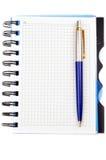 Caderno e uma pena Foto de Stock