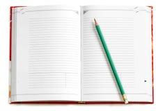 Caderno em branco Fotografia de Stock