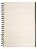 Caderno em branco Foto de Stock