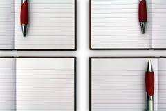 Caderno em branco aberto Fotos de Stock