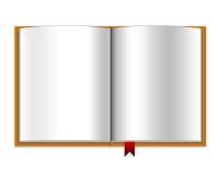 Caderno em branco aberto Imagens de Stock Royalty Free