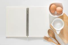 Caderno em branco para receitas Fotos de Stock