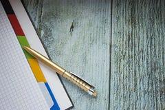 Caderno em uma gaiola, sem gravação com o punho de reclinação imagens de stock royalty free