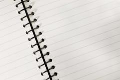 Caderno espiral imagem de stock