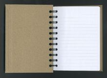 Caderno espiral aberto. Imagem de Stock
