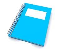 Caderno espiral azul fotos de stock