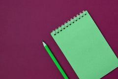 Caderno espiral de vista superior Imagem de Stock Royalty Free