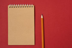 Caderno espiral de vista superior Foto de Stock