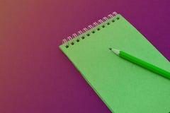 Caderno espiral de vista superior Imagem de Stock