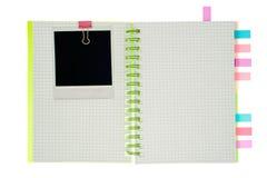 Caderno espiral isolado Fotos de Stock Royalty Free