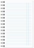 Caderno espiral realístico vazio do bloco de notas isolado Imagem de Stock
