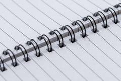 Caderno espiral vazio Imagens de Stock Royalty Free