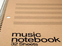 Caderno genérico da música foto de stock royalty free