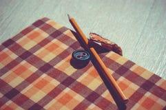 Caderno Handcrafted Fotografia de Stock Royalty Free