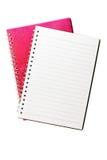 Caderno isolado no branco Fotos de Stock Royalty Free