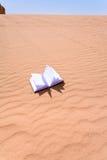 Caderno na duna de areia da sobremesa do rum do barranco Imagens de Stock