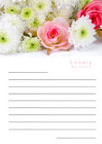 Caderno na textura da flor Imagens de Stock