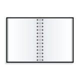 Caderno no fundo branco Fotos de Stock