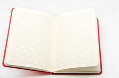 Caderno no fundo branco Imagem de Stock
