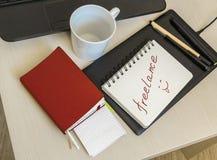 Caderno para as notas que encontram-se no escritório Imagens de Stock Royalty Free