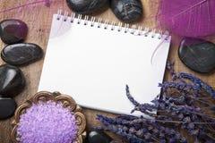 Caderno para termas Imagens de Stock
