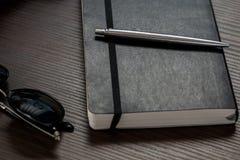 Caderno preto Fotografia de Stock