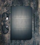 Caderno preto ilustração royalty free