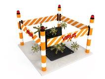 Caderno-vírus (0) .jpg Fotografia de Stock Royalty Free