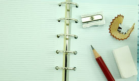 Caderno vazio Fotografia de Stock