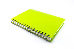 Caderno verde Foto de Stock