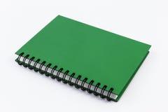 Caderno verde isolado imagem de stock royalty free