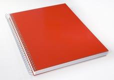 Caderno vermelho Fotos de Stock Royalty Free