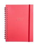Caderno vermelho 2017 Fotografia de Stock