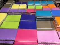 Cadernos coloridos Foto de Stock