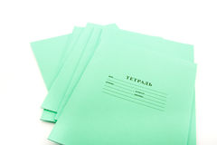 Cadernos da escola Imagens de Stock Royalty Free