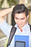 Cadernos de And Laughter With do estudante imagens de stock royalty free