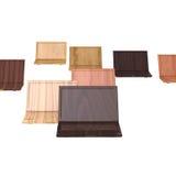 Cadernos do projeto do Woodgrain Imagens de Stock