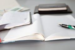 Cadernos e cartão Foto de Stock