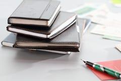 Cadernos e cartão Imagem de Stock