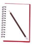 Cadernos e lápis no fundo branco Fotografia de Stock Royalty Free