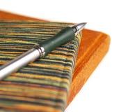 Cadernos e pena Fotografia de Stock